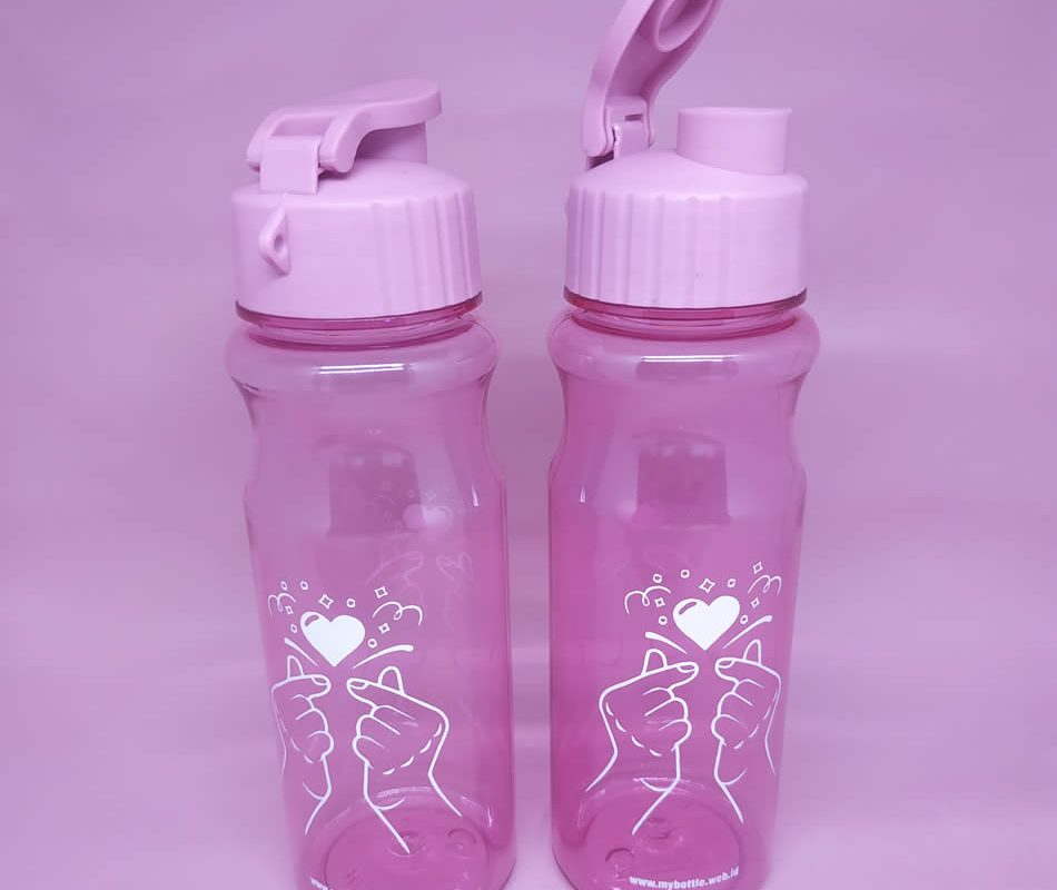 My Bottle Costum Sablon Saranghaeyo