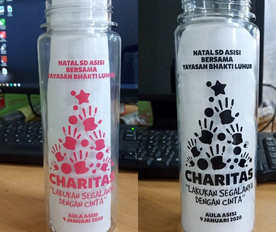 My Bottle Costum Sablon Natal SD Asisi